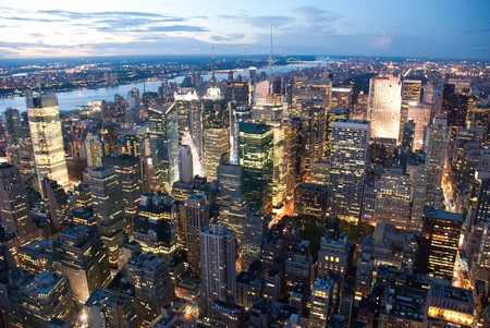 New York City by Night from the Empire State Building photo