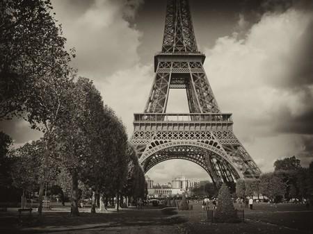 View of Eiffel Tower in Paris, France Reklamní fotografie