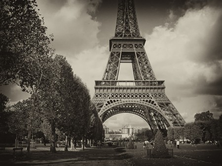 View of Eiffel Tower in Paris, France Stock Photo
