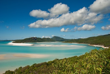 whitsundays: Whitehaven Beach in the Whitsundays Archipelago, Queensland, Australia Stock Photo