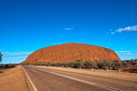 Lights and Colors of Ayers Rock in Australia photo