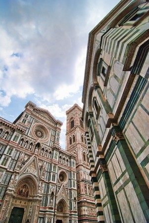 Architectural Detail of Piazza del Duomo in Florence, Italy Stock Photo - 7463620