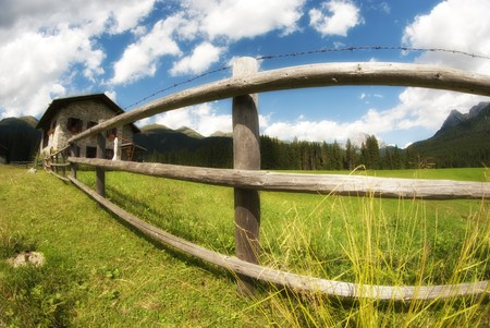 Meadows of Val Visdende on the Dolomites, Italy Stock Photo - 7681955