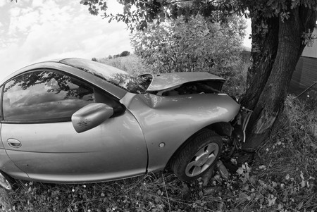 car wreck: Car Accident against a Tree, Italy