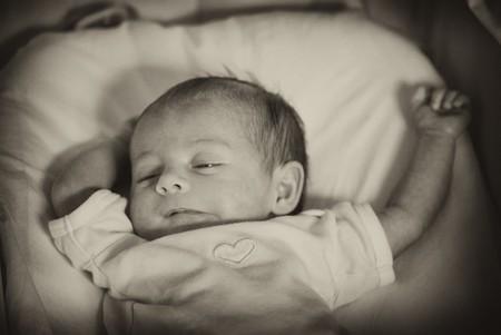 Newborn Baby Girl Behavior during her First days of Life Stock Photo - 7955229