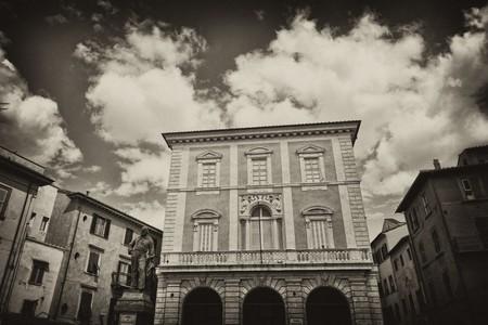 Piazza Garibaldi in Pisa, Tuscany, Italy photo
