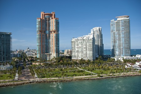 View of Miami from a departing Cruise Ship photo