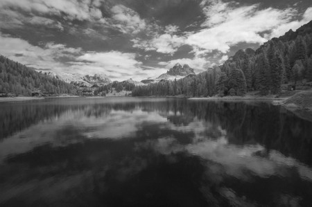 Infrared Landscape of Dolomites, Northern Italy Stock Photo - 8158695