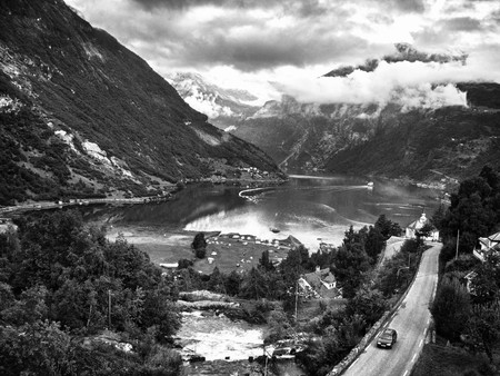 Geiranger Fjord Panoramic View, Norway photo