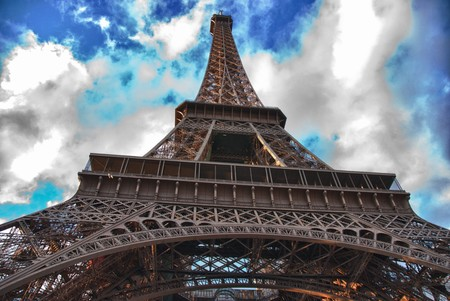 Side view of Eiffel Tower, Paris