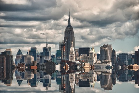 New York City Skyscrapers Reflections, USA photo