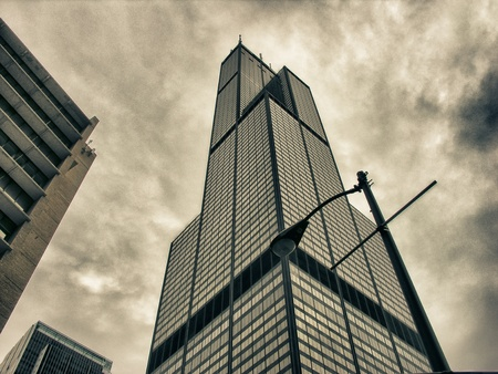 the sears tower: Buildings of Chicago, Illinois, USA Editorial