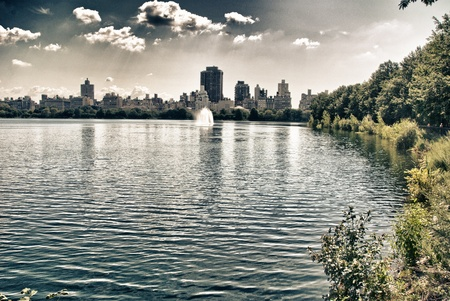 central park: Central Park Lake in New York City, USA