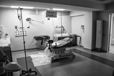 operating hygiene: Delivery Room Detail in a Italian Hospital