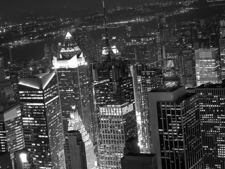 Night View of New York City from Empire State Building Stock Photo - 8665997