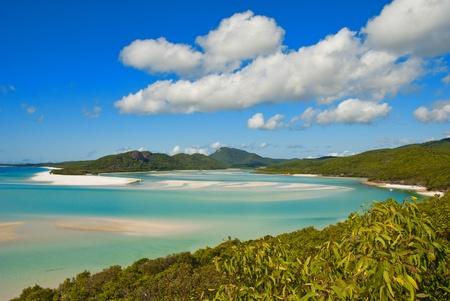whitehaven beach: Whitehaven Beach in the Whitsundays Archipelago, Queensland, Australia Stock Photo
