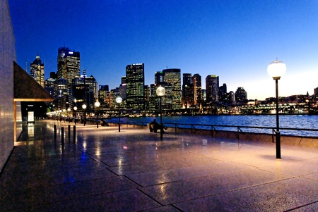 Sydney Harbour at Night, New South Wales, Australia