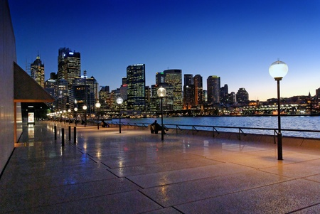 new south wales: Sydney Harbour at Night, New South Wales, Australia