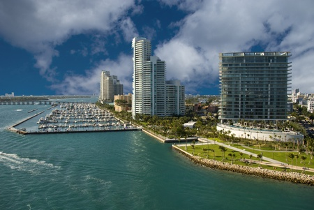america del sur: Costa de Miami Beach en Florida, Estados Unidos.