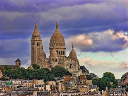 Vie of Montmartre in Paris, France photo
