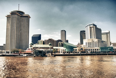 New Orleans Buildings on the Mississippi River, Louisiana Stock Photo - 8758613