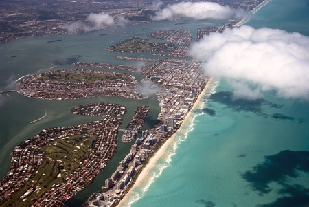 Aerial View of Miami in Florida Stock Photo