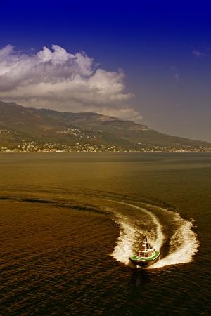 Ship Wake, Corsica, France photo