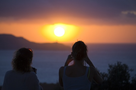 Photographing Sunset in Corsica, France photo