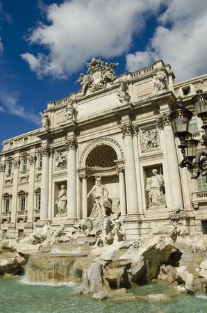 Trevi Fountain on a Sunny Day, Rome, Italy photo