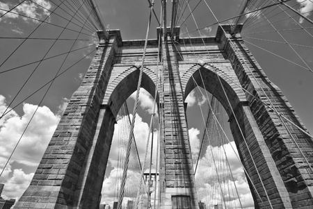 rope bridge: Brooklyn Bridge Architecture, New York City