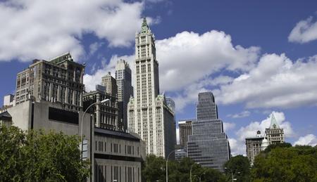 panoramic view: Panoramic View of New York City Buildings, U.S.A.
