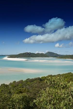 Whitehaven Beach in the Whitsundays Archipelago, Queensland, Australia photo