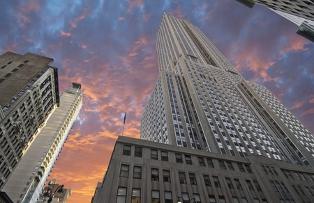 empire: Bottom-Up view of Empire State Building, New York City