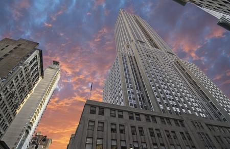 Bottom-Up view of Empire State Building, New York City Redakční