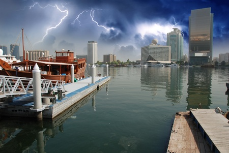 Storm approaching Dubai, UAE photo