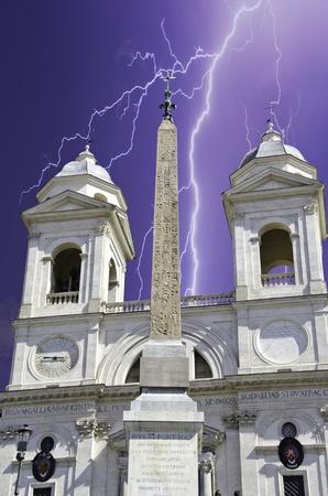 Trinita' dei Monti in Rome, Italy Stock Photo - 9607787