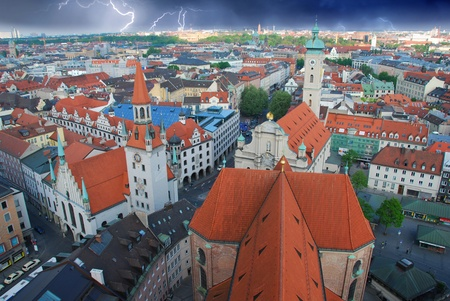 Storm approaching Munich in Germany photo