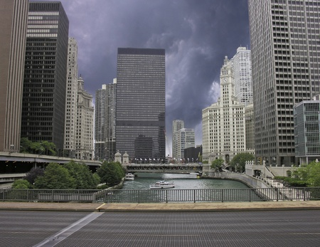 Storm approaching Chicago, U.S.A. photo