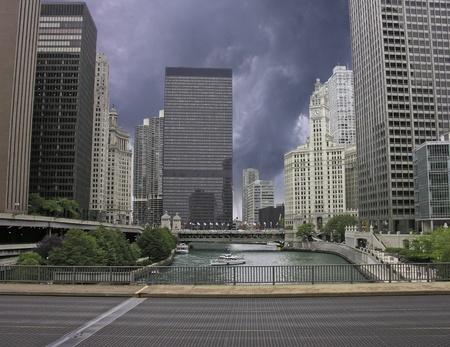 investment real state: Tormenta acercarse a Chicago, Estados Unidos.