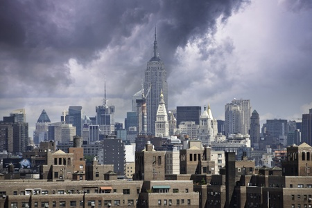 Storm approaching New York City, U.S.A. Stock Photo - 9607824