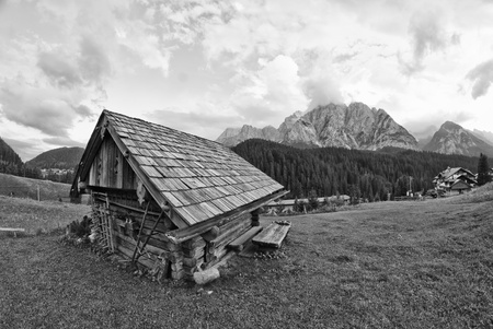 Typical House in the heart of Dolomites Mountains, Italy Stock Photo - 9607838