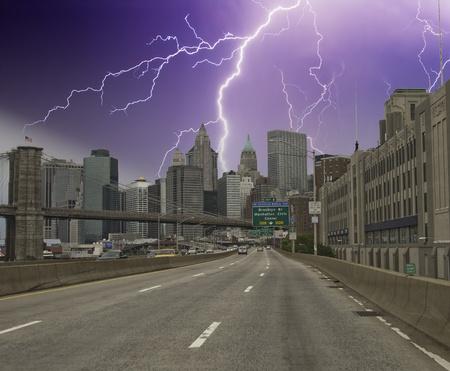 Storm over New York City Skyscrapers, U.S.A. photo