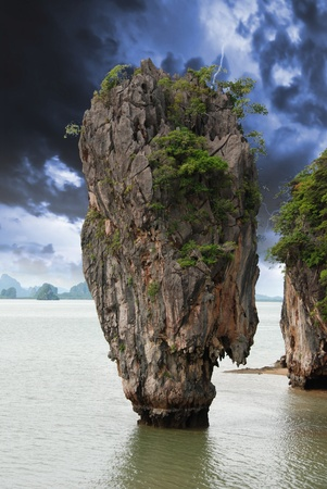 Storm approaching James Bond Island, Thailand photo