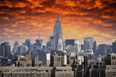 u s a: Storm approaching New York City, U S A  Stock Photo