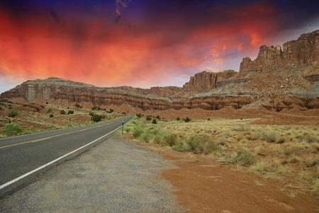 Road Inside Monument Valley, U.S.A. photo