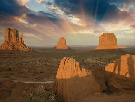 Sky Colors over Monument Valley, U.S.A. photo