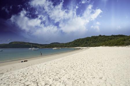 Colors of Whitehaven Beach in the Whitsundays Archipelago, Australia photo