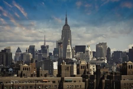 u s a: Manhattan Skyline from Brooklyn Bridge, U S A
