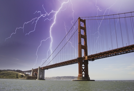 Storm approaching Golden Gate, San Francisco photo