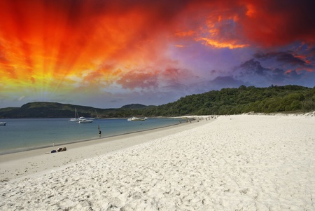 Colors of Whitehaven Beach in the Whitsundays Archipelago, Australia Stock Photo - 9844630